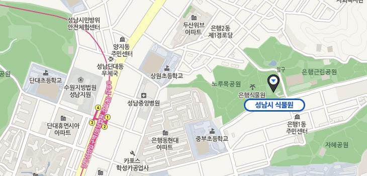 은행식물원 찾아오시는길에 대한 지도입니다.